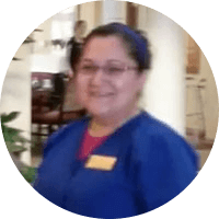Altagracia Cervantes is a housekeeper at Walnut Grove in Omaha, Nebraska.