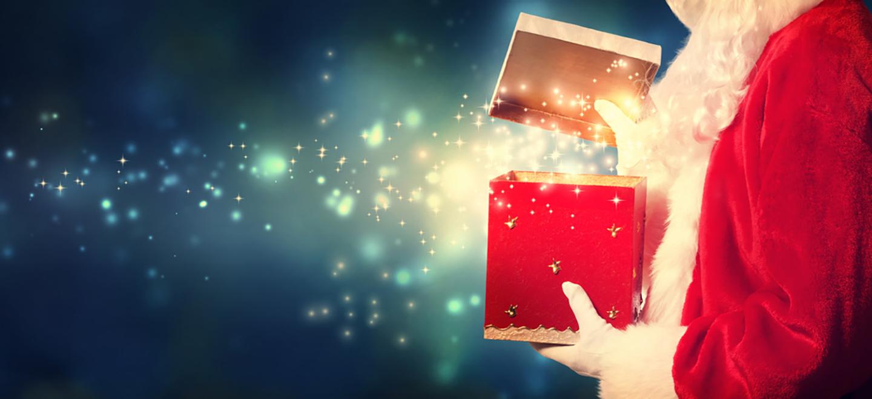 Cahaba Ridge Christmas presents with Santa Clause