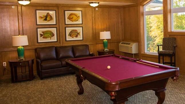 Billiards room at Capital Oaks