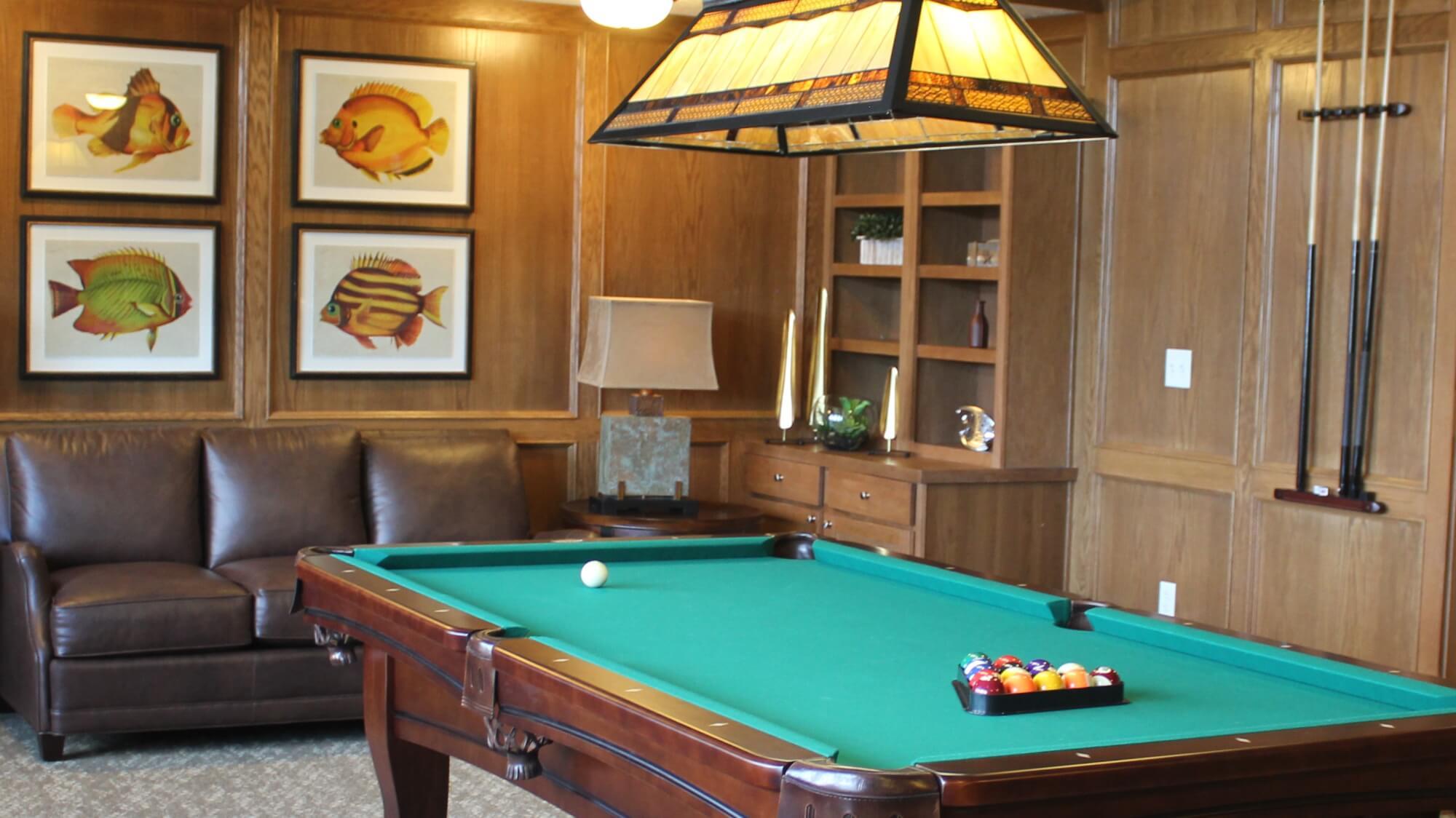 Billiards room at Cahaba Ridge