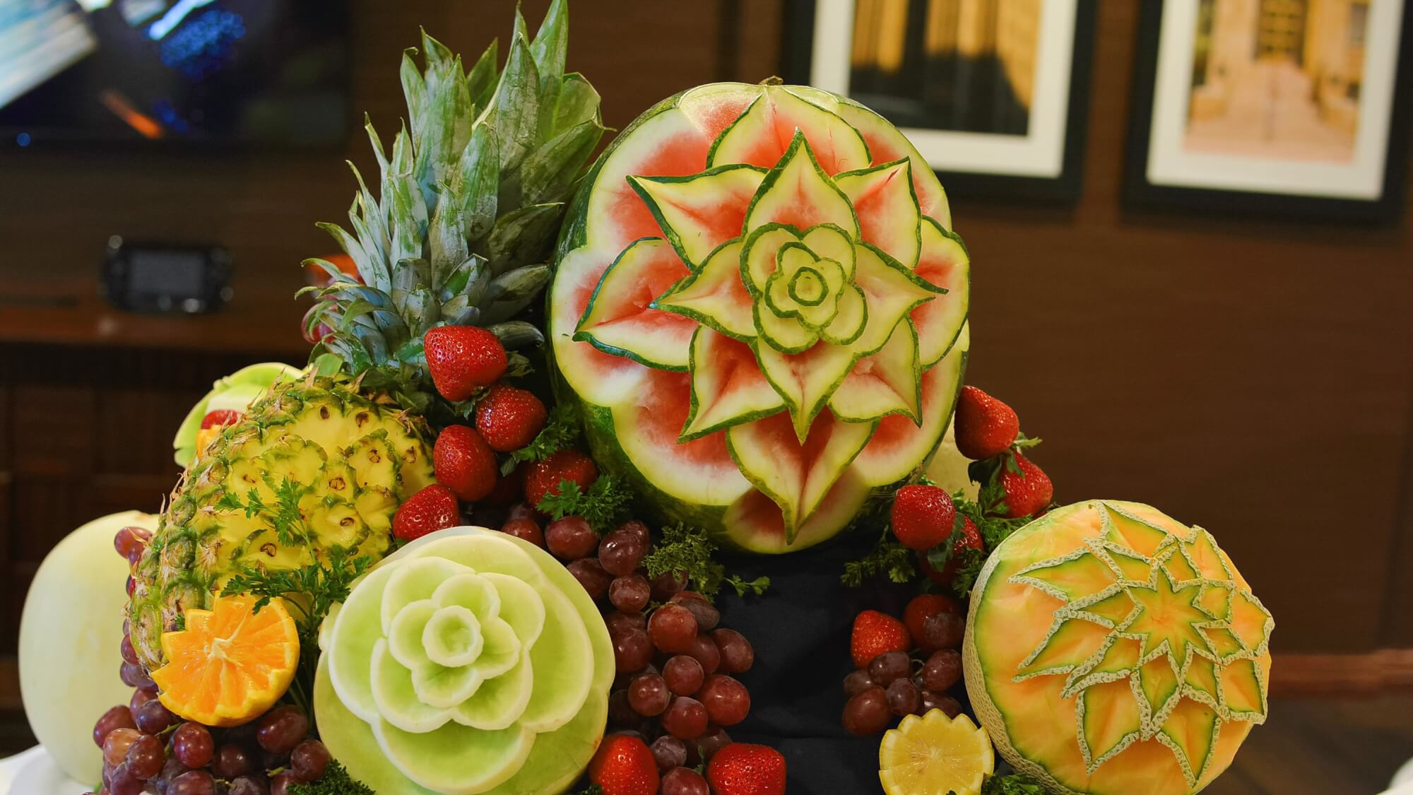 mouth-watering thai fruit carvings at Copper Springs