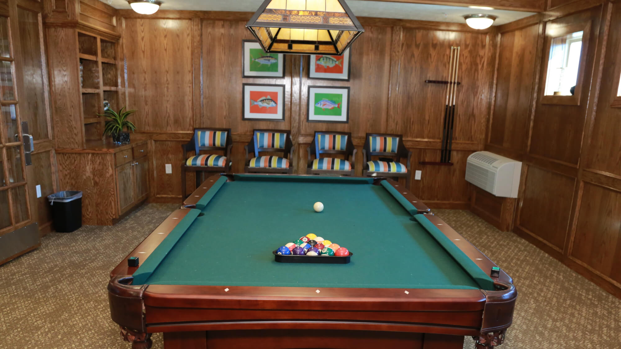 Billiards room at Cactus Valley