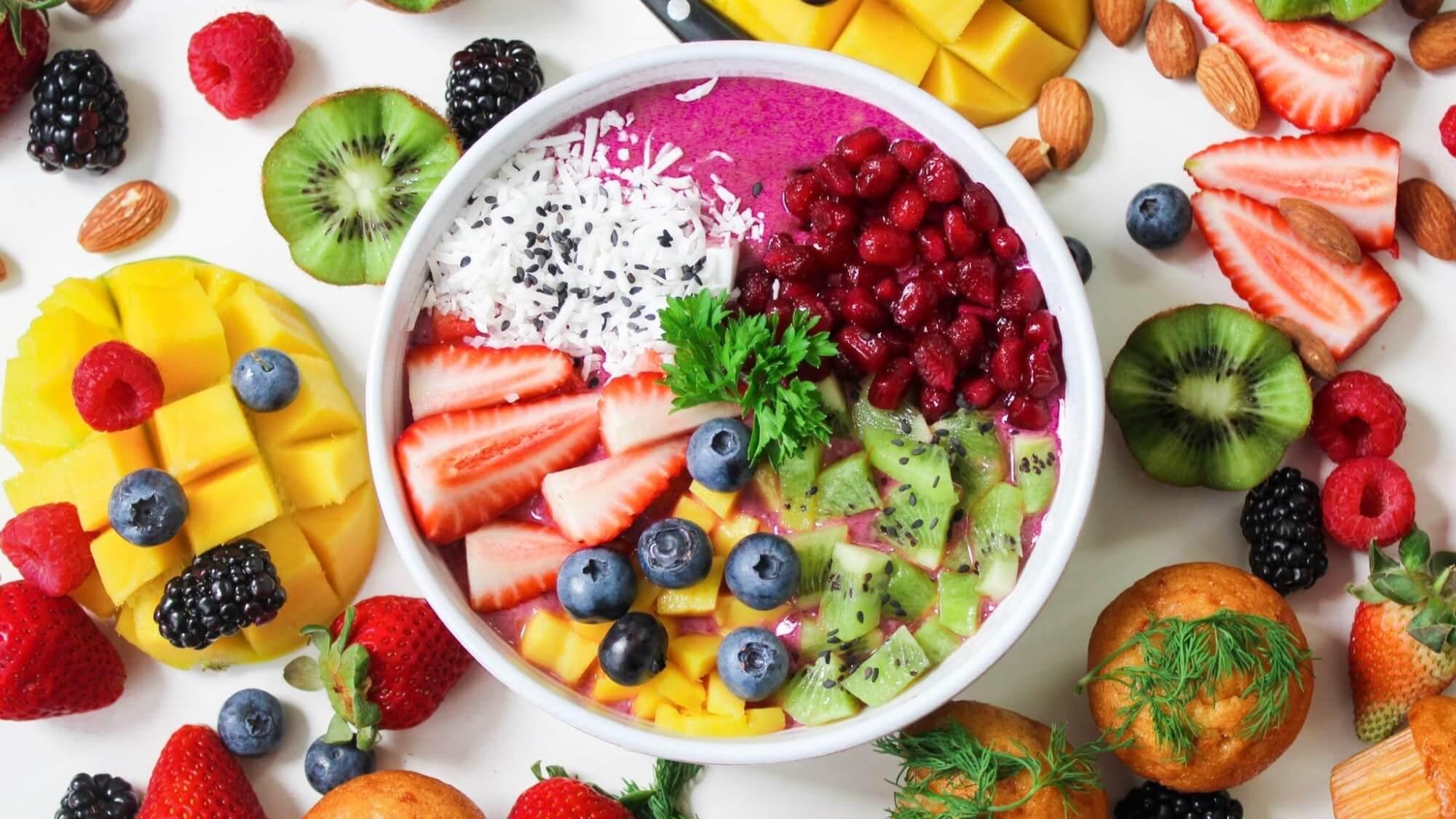 Fruit dish display