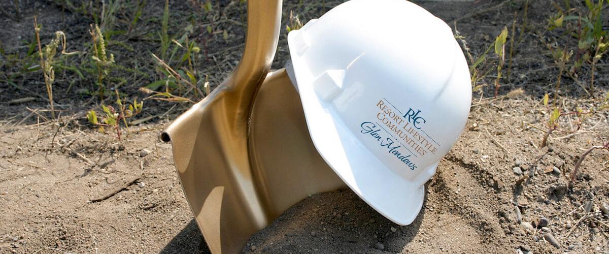 Gold shovel breaking ground at Glen Meadows Retirement Community in West Des Moines, Iowa
