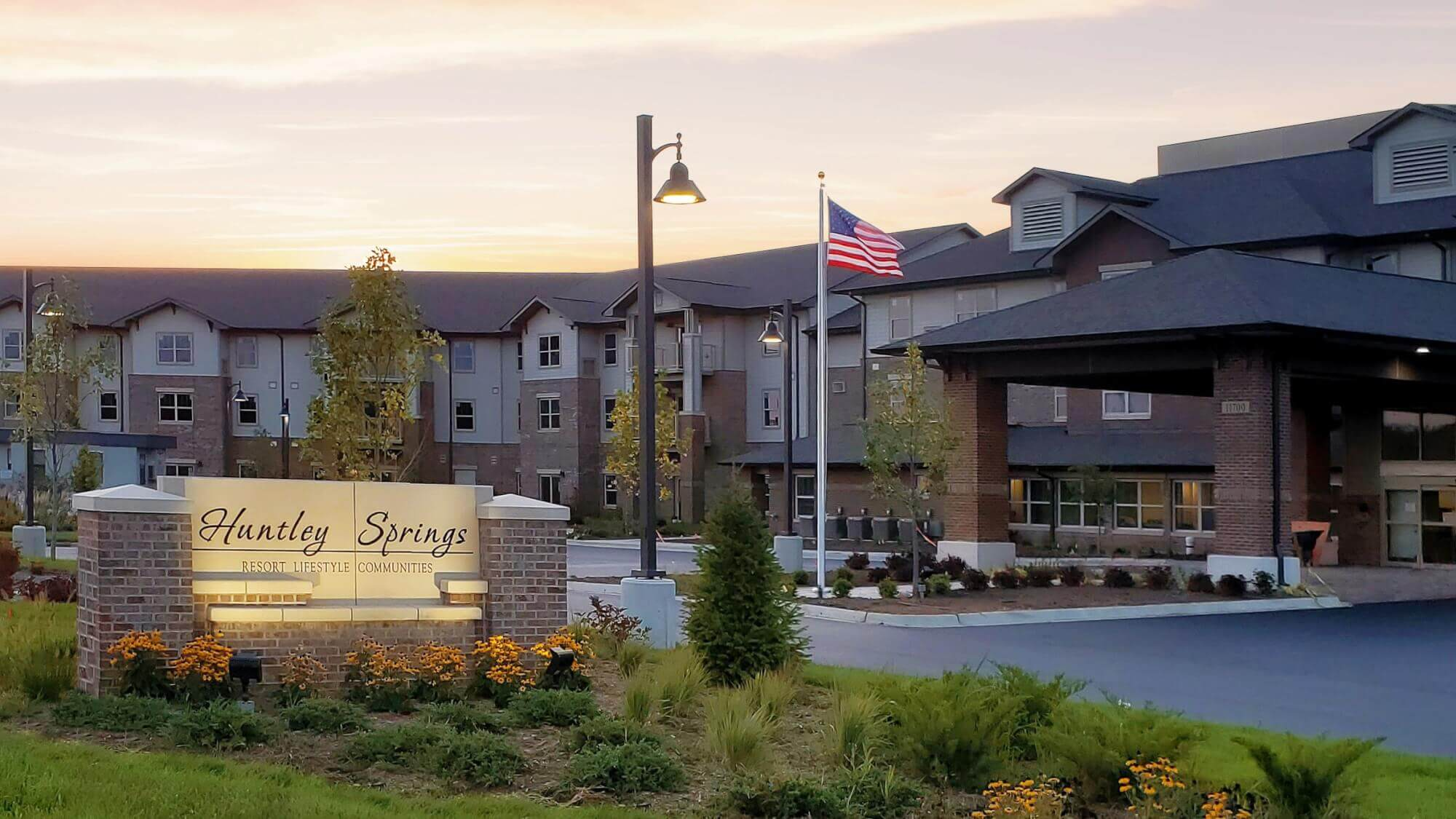 Exterior photo of Huntley Springs entrance