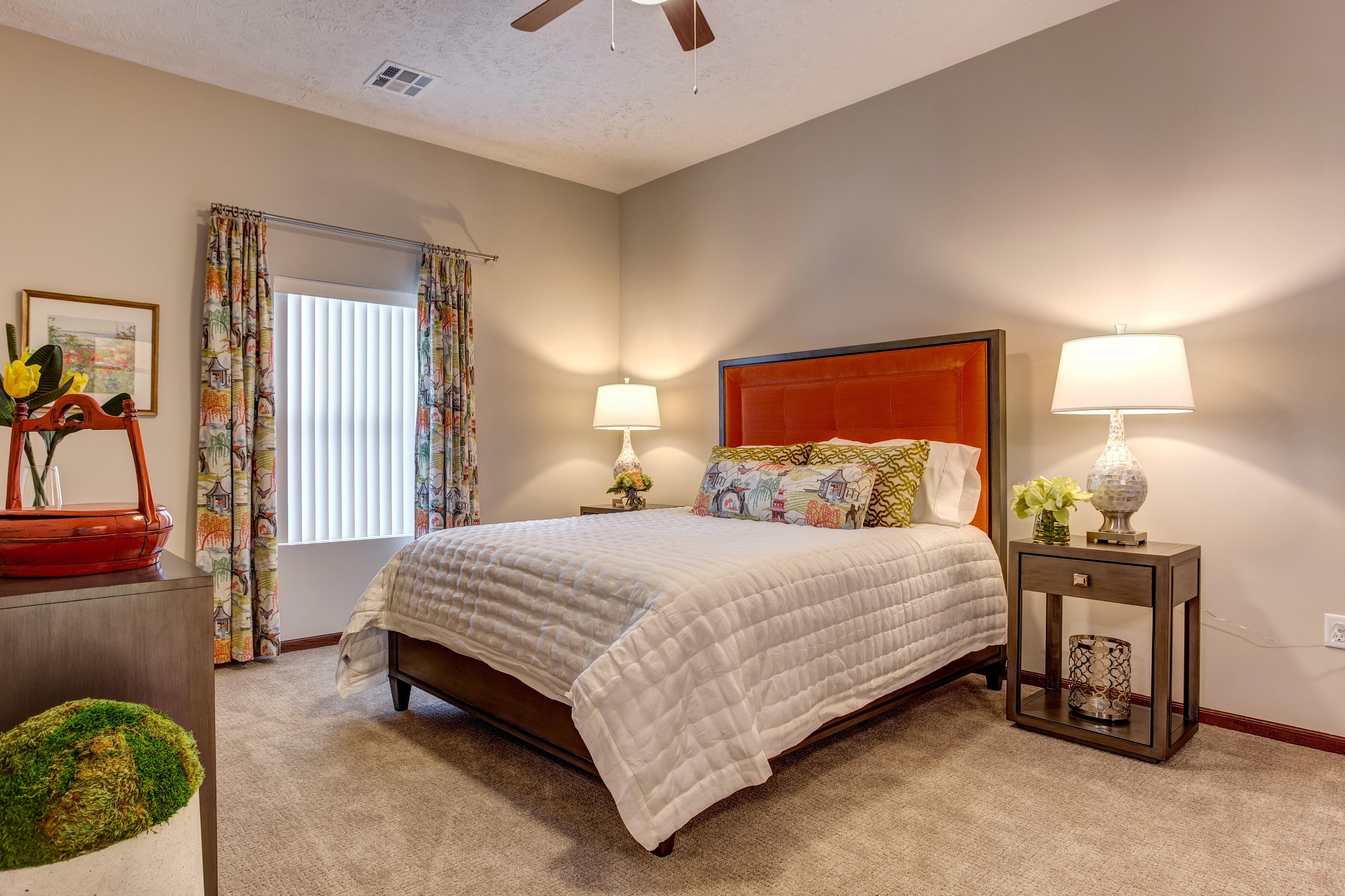 Model Bedroom at Huntley Springs