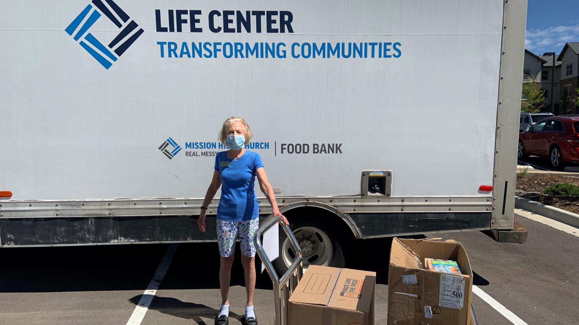 Senior serving her Community