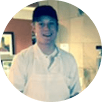 Jacob Garver is a server at Riverstone in Kansas City, Missouri.