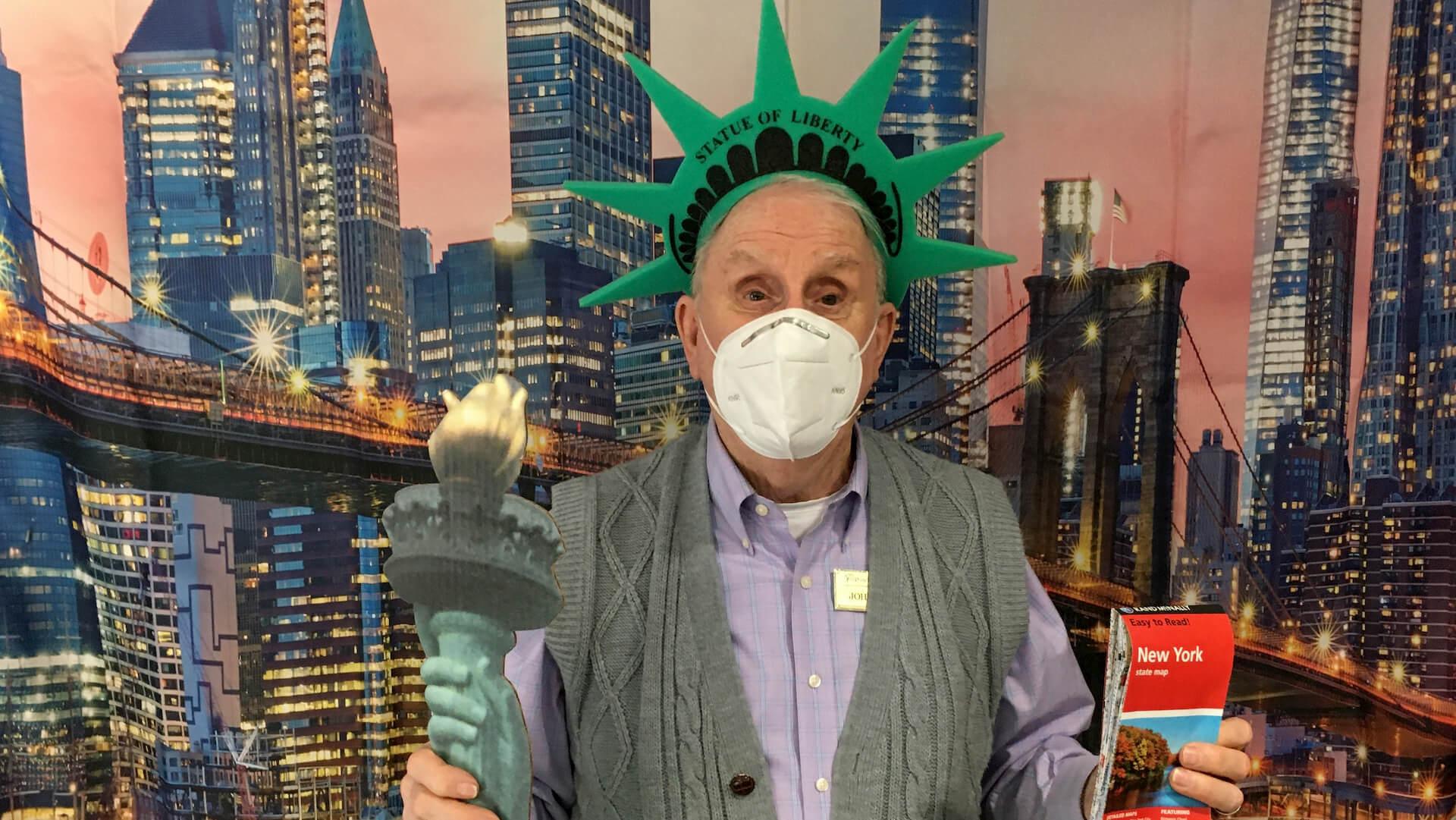 John armchair travels to New York