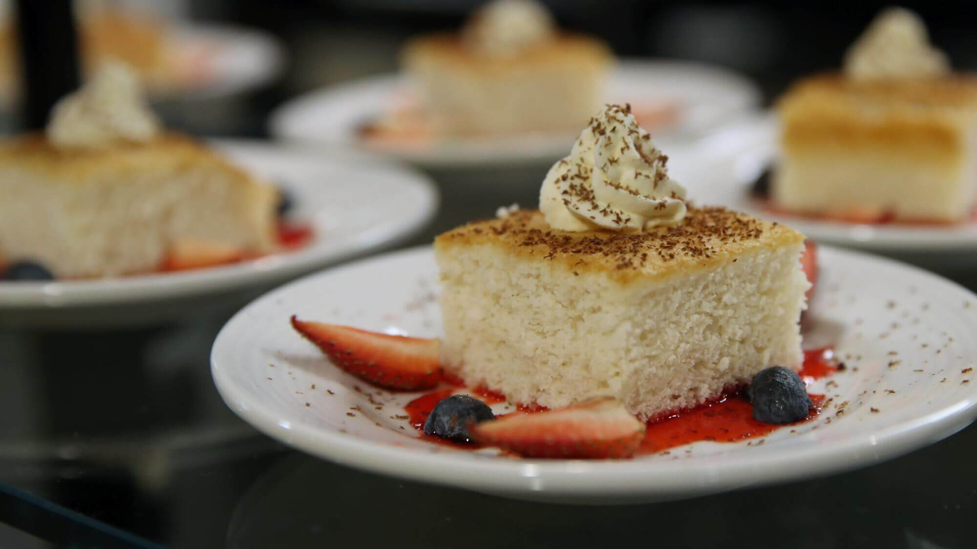 A delectable strawberry shortcake dessert is one of the many delights to experience at Lake Forest Village.