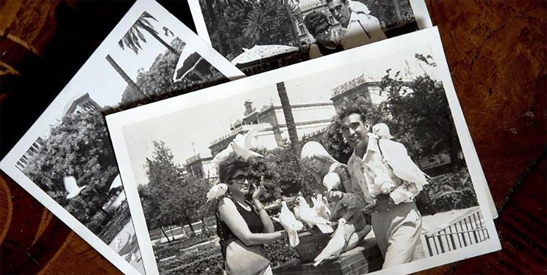 Black and white photos of Marina and Lio.