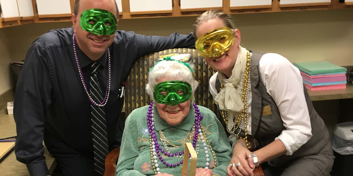 Millie is 104 years old. She's special not only because she's our oldest resident, but because she is kindness personified - to the other residents, to the staff, and to her neighbors.