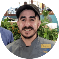 Nick Dominguez is a Sous Chef at Coronado Villa in Albuquerque, New Mexico.