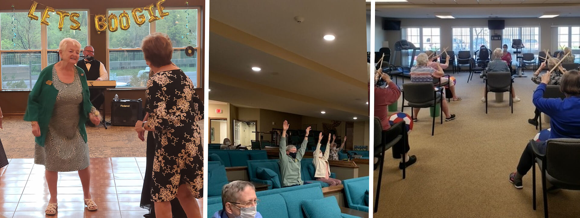 Evergreen Crossings (South Windsor, CT) declared it was time to boogie and treated our seniors to a prom night featuring popular music from decades past. Whether they took to the dance floor or simply clapped their hands or tapped their toes, the movement was a benefit for all.