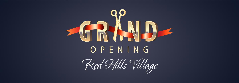 Red Hills Village Grand Opening logo