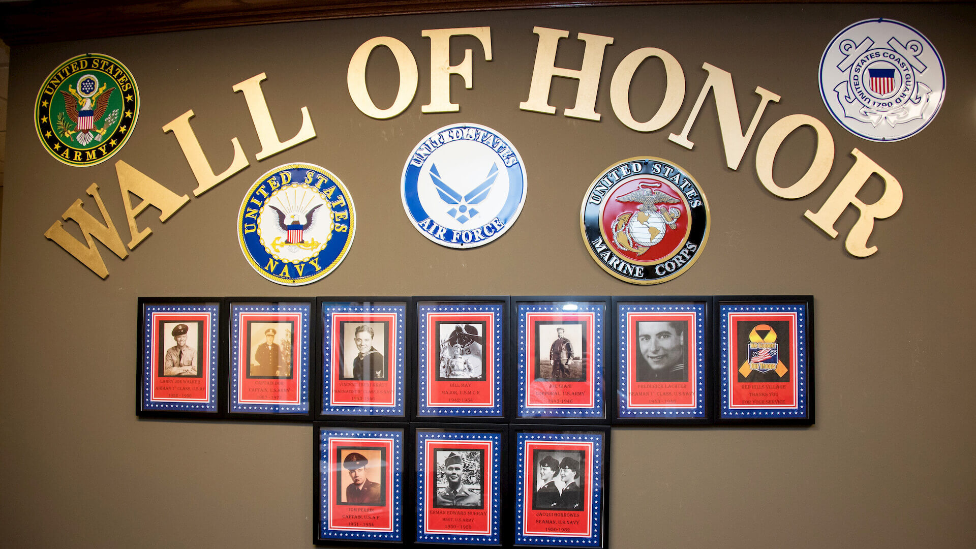 Red Hill Village Wall of Honor