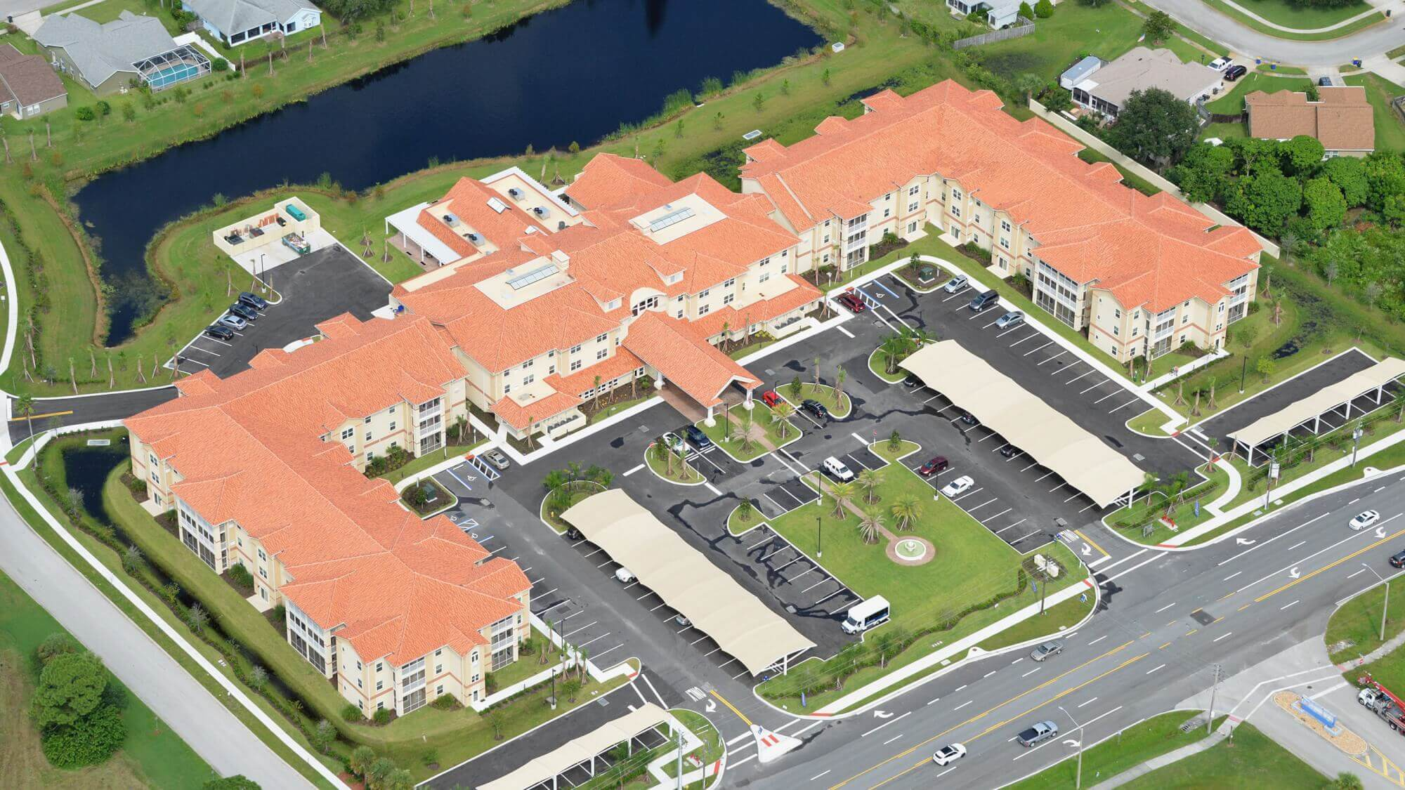 Aerial view of Shell Harbor Retirement Community