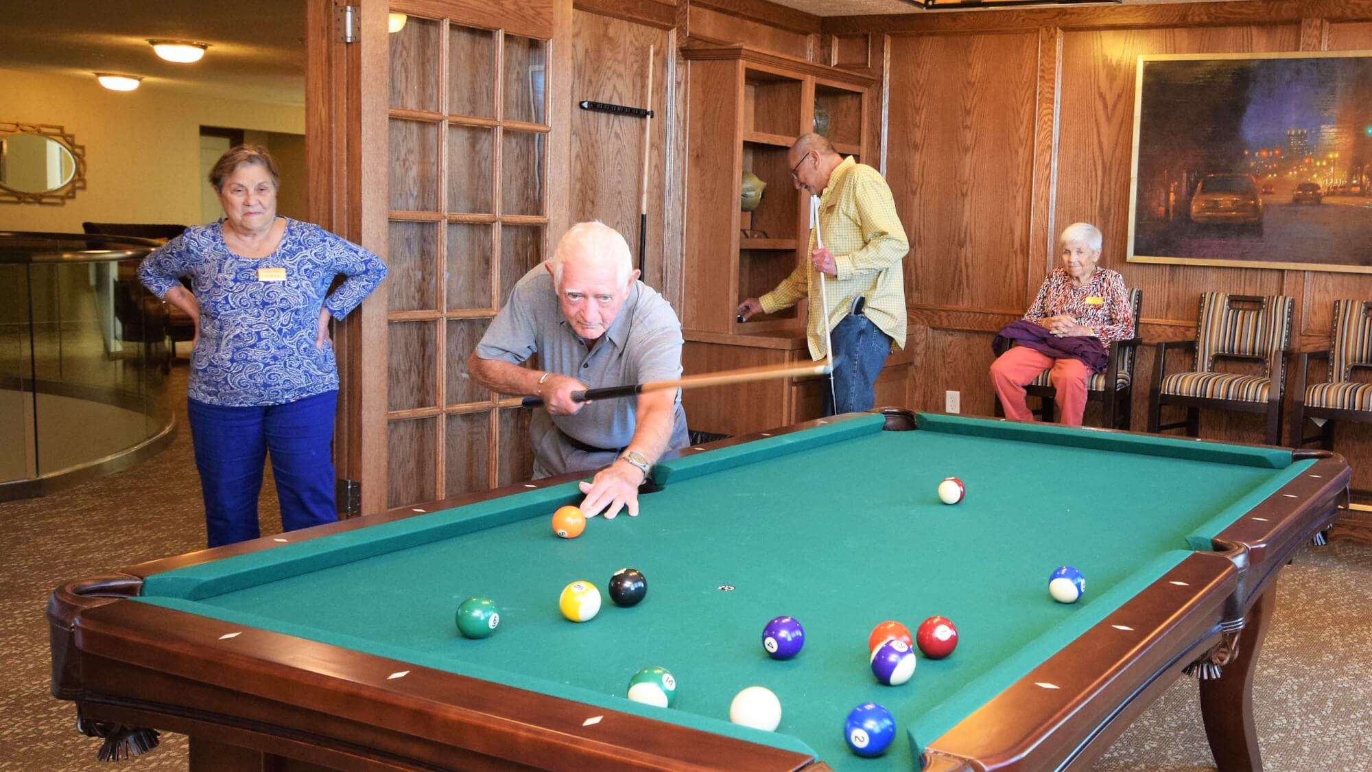 Nothing better than a game of pool with friends at Stone River.