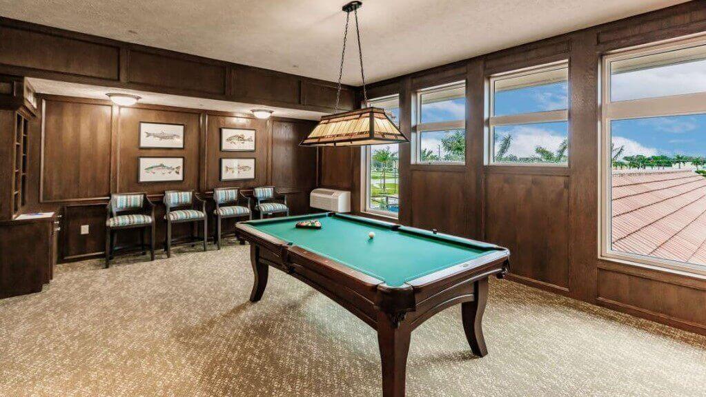 Billiards Room at Seaside Springs Retirement Community