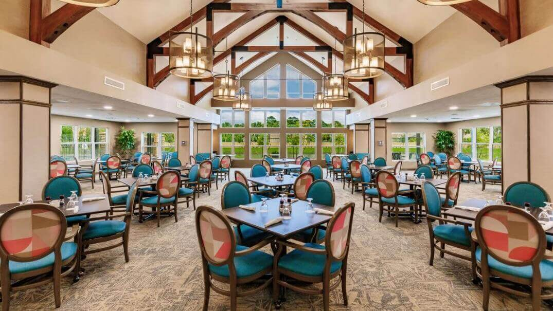 Dining Hall at Seaside Springs Retirement Community