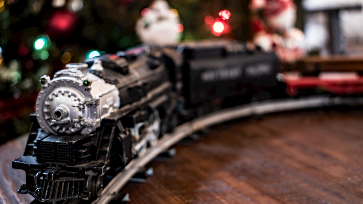 Lionel Electric Train set under the Christmas tree